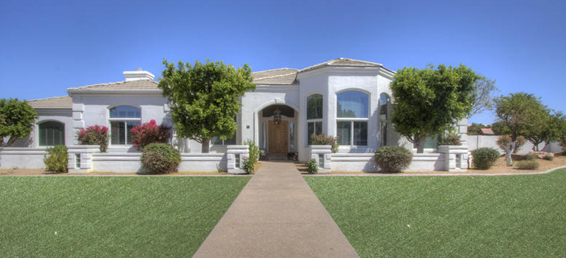 Custom Mesa Arizona home in the private gated community of Tanner Grove Estates.