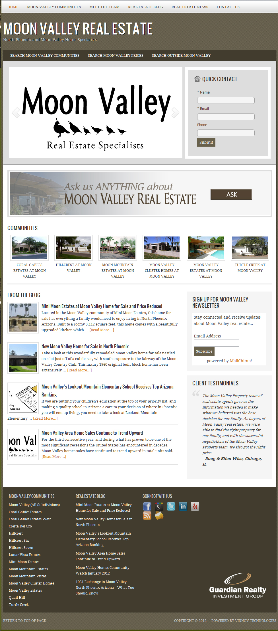 Search Moon Valley property and real estate listings in North Phoenix Arizona.