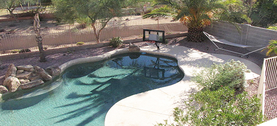 This North Phoenix rental home comes with a private pool.