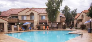 View this 2 bedroom Mesa condo for sale located near the Mesa Fiesta District Project.