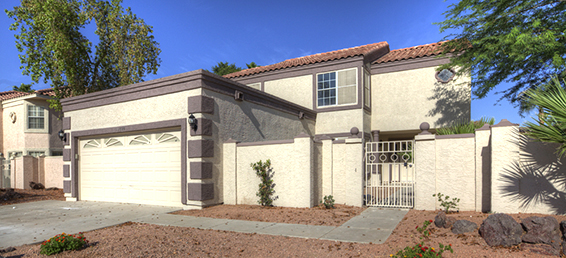 This is a remodeled Glendale Arizona home for sale located in the Arrowhead Ranch golf community.