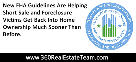 There are new FHA guidelines for 2013 that will allow short sale and foreclosure victims to get back into home ownership sooner than before.