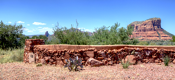 This Sedona Arizona custom lot for sale is in the gated community of Canyon Ridge.