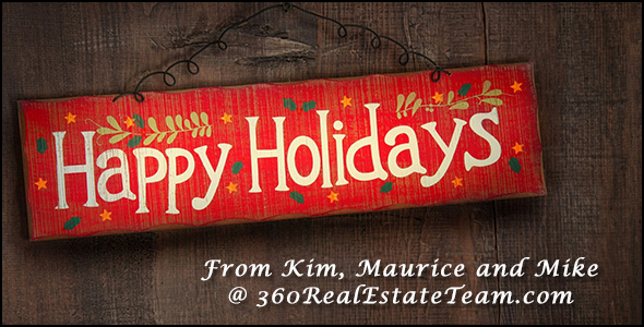 The 360 real estate team of Phoenix Arizona wishes you happy holidays.