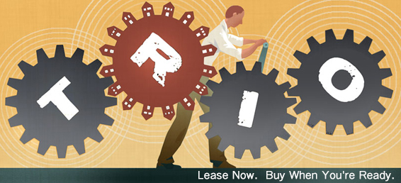 The Trio Lease Option is a great way for home buyers to lock in their home while they are still needing to rent and when they are ready to purchase, they are already in their home.