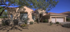 This is a Scottsdale rental home located in gated Carino Canyon.