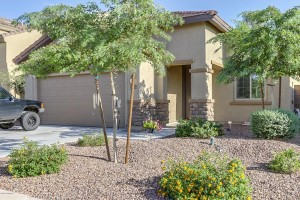 This is a solar powered home in the community of Laveen Meadows.