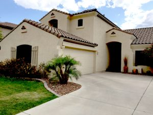 This Stetson Hills home for sale rests on a mountainside lot in North Phoenix Arizona.